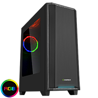 Game Max California RGB Mid-Tower Gaming Case With Acrylic Side Window & LED Strip - Click below for large images