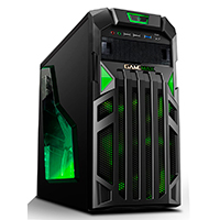Game Max Centurion Gaming Case with Front & Rear Green LED Fans 1x USB3 - Click below for large images