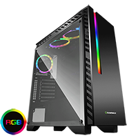 Game Max Chroma RGB Mid-Tower Gaming Case - Click below for large images