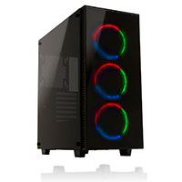 Game Max Cobalt RGB Mid Tower ATX 2 x USB3 Tempered Glass Sides and Front  - Click below for large images