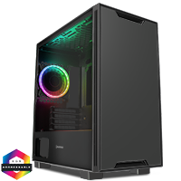 GameMax Commando MATX Black 1x Side Window 1 x ARGB Velocity Fan - Click below for large images