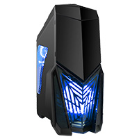 Game Max Destroyer Gaming PC Case with 3 x 12cm 15 Blue LED fans & 1 x 12cm 4 LED  - Click below for large images