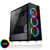 Game Max Eclipse Tempered Glass RGB Gaming Case - Click below for large images