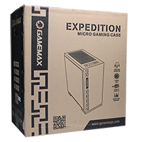 Game Max Expedition Red Gaming Matx PC Case Rear LED Fan & Full Side Window - Click below for large images