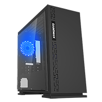 Game Max Expedition Black Gaming Matx PC Case Rear LED Fan & Full Side Window - Click below for large images