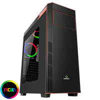 Game Max Gamboge RGB Mid-Tower Gaming Case - Click below for large images