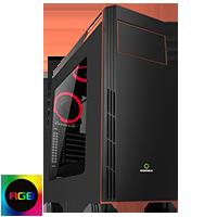Game Max Gamboge RGB Midi Gaming Case - Click below for large images