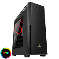 Game Max Graphite RGB Midi Gaming Case - Click below for large images