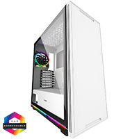 GameMax Ice ARGB Sync White Case 2xLED Strips 3xFans 3pin Hub TG Window - Click below for large images