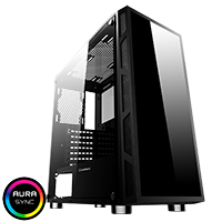 Game Max Kage Midi Tempered Glass inc Spectrum RGB Hub 3 Pin AURA No Fans - Click below for large images
