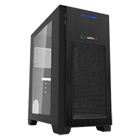 Game Max Mini Kallis Black Gaming Case & Side Window 2 x USB3 - Click below for large images