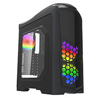 Game Max Nexus Black Gaming Case 2x RGB Led Front Fans & 1x RGB Rear Side Window - Click below for large images