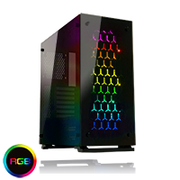 Game Max Onyx RGB Mid Tower ATX 3 x RGB Fans Tempered Glass Sides & Front - Click below for large images