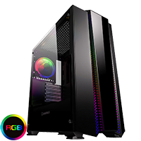 Game Max Phantom RGB Mid-Tower Tempered Glass Gaming Case - Click below for large images