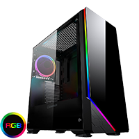 Game Max Shadow RGB Mid-Tower Tempered Glass Gaming Case - Click below for large images