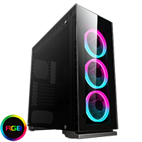 Game Max Spectrum Tempered Glass RGB Gaming Case - Click below for large images