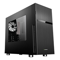 Game Max Whisper Silent Sound Proofed MATX Case With 1 White Bladed Fan Included - Click below for large images