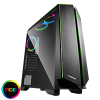 Game Max Zircon RGB Mid-Tower Gaming Case With Full Side Window - Click below for large images