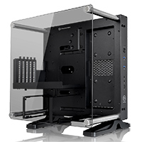 Thermaltake Core P1 Mini ITX Tempered Glass Edition Black - Click below for large images