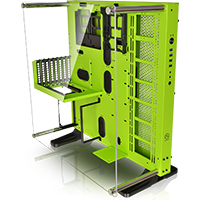 Thermaltake Core P5 Green Edition Mid Tower ATX Case with Acrylic Side Window - Click below for large images