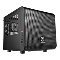 Thermaltake Core V1 Mini-ITX Cube Case Front 20cm Fan 2 x USB3 Side Window  - Click below for large images