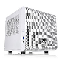Thermaltake Core V1 Snow Mini-ITX Cube Case With Side Window - Click below for large images