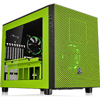 Thermaltake Core X5 Green Riing Edition ATX Stackable Cube Case With Window - Click below for large images