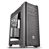 Thermaltake Versa C21 Mid Tower Case with Side Window & RGB LED - Click below for large images