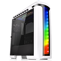 Thermaltake Versa C22 White Mid Tower Case with Side Window & RGB LED   - Click below for large images