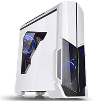Thermaltake Versa N21 Snow - White Midi Gaming Case USB3 12cm Rear Fan Toolless  - Click below for large images
