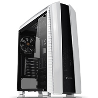 Thermaltake Versa N27 White Mid Tower Case With Full Side Window - Click below for large images