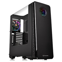 Thermaltake View 28 RGB Riing Fan Edition Black Case With Curved Side Window  - Click below for large images