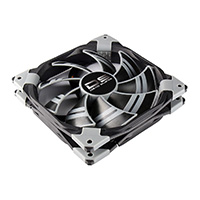 Aerocool Dead Silence 12cm Black Fan Dual Material/Colour FDB Fan 12.1dBA Retail - Click below for large images