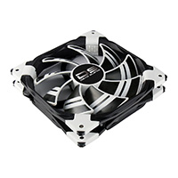 Aerocool Dead Silence 12cm White LED Fan Dual Material/Colour FDB Fan 12.1dBA Retail - Click below for large images