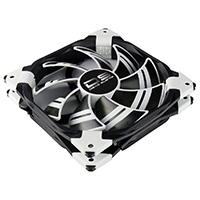Aerocool Dead Silence 14cm White LED Fan Dual Material/Colour FDB Fan 10.8dBA Retail - Click below for large images