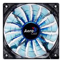 Aerocool Shark 12cm Quad Blue LED Fan 15 Blade Fluid Dynamic Bearing 12.6dBA - Click below for large images