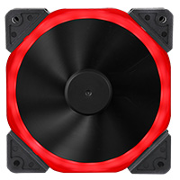 Unbranded Halo Dual Ring 22 LED 120mm Red Fan - Click below for large images