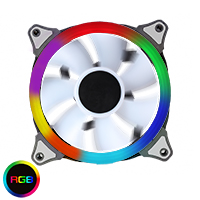 Single Ring 22 LED 120mm Rainbow RGB Fan (GameMax Spectrum / Eclipse fan) - Click below for large images
