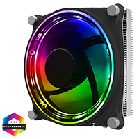 GameMax Gamma 300 Rainbow ARGB CPU Cooler Aura Sync 3 Pin - Click below for large images