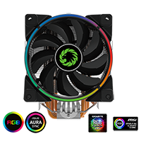 Game Max Gamma 500 RGB CPU Cooler ASUS MSI Compatible - Click below for large images