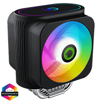 GameMax Gamma 600 Rainbow ARGB CPU Cooler Aura Sync 3 Pin - Click below for large images