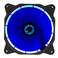 Game Max Eclipse Blue Ring LED 12cm Cooling Fan With Hydraulic Bearings - Click below for large images