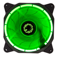 Game Max Eclipse Green Ring LED 12cm Cooling Fan With Hydraulic Bearings - Click below for large images