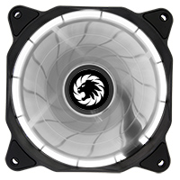 Game Max Eclipse White Ring LED 12cm Cooling Fan With Hydraulic Bearings - Click below for large images