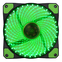 Game Max Galeforce 32 x Green LED 12cm Cooling Fan - Click below for large images