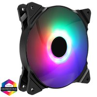 GameMax Haze Fan 3pin M/F ARGB 3/4pin Power Retail Box - Click below for large images