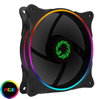 Game Max Mirage Rainbow RGB 120mm Fan 5V Addressable 3pin Header & 3pin M/B  - Click below for large images
