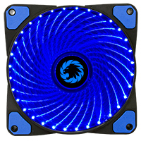 Game Max Mistral 32 x Blue LED 12cm Cooling Fan - Click below for large images
