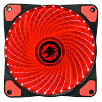 Game Max Mistral 32 x Red LED 12cm Cooling Fan - Click below for large images