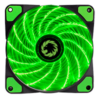Game Max Storm Force 15 x Green LED 12cm Cooling Fan With Hydraulic Bearings  - Click below for large images